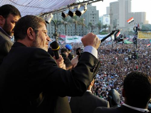 Morsi is Egypt's first democratically elected president. (AAP)