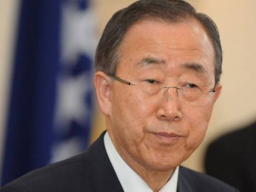 Ban Ki-moon met the Islamic republic's supreme leader Ayatollah Ali Khamenei, on Wednesday after holding seperate meetings with President Mahmoud Ahmadinejad and parliament speaker Ali Larijani.