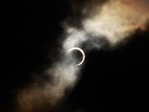 Sky watchers in Japan watched the ring solar eclipse (AAP)