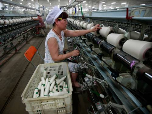 A worker in an Chinese factory. (AAP)