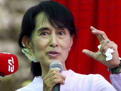 Suu Kyi, who spent most of the two decades until 2010 under house arrest, will be feted from Washington to university campuses as she holds nearly 100 events over three weeks in the country that has long rallied behind her cause. (AAP)