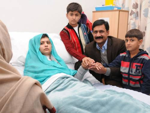 Malala was flown from Pakistan on October 15 for treatment at a specialist hospital in Birmingham, central England, in an air ambulance provided by the United Arab Emirates (UAE). (AAP)