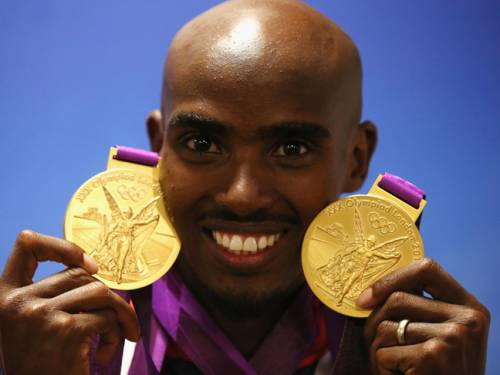 Briton Mo Farah won gold in the 5,000 and 10,000 metres.