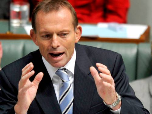 Tony Abbott says the next election will be a 'referendum'. (AAP)