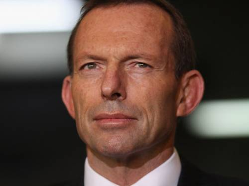 Opposition leader Tony Abbott announces a tougher asylum seeker policy. (Getty)