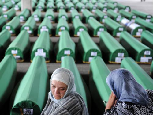 In all, around 8,000 Muslim men and boys were slaughtered by Bosnian Serb troops who overran the UN protected enclave on July 11, 1995, in the only episode of the 1992-95 Bosnian war to have been ruled a genocide by international courts. (Getty)