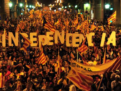 Fiercely proud of their distinct language and culture, Catalans increasingly feel they are getting a raw deal from Madrid and their president is now demanding the right to raise and spend their own taxes. (Getty)