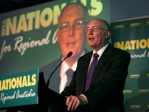Nationals Leader Warren Truss. (AAP)