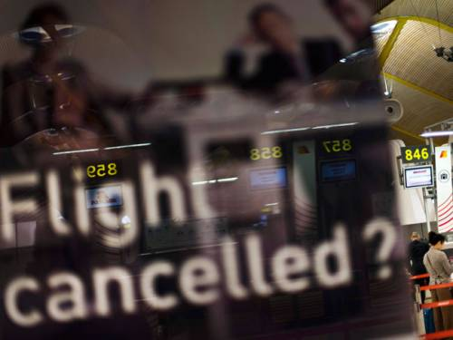Nearly 20,000 flights were cancelled on Wednesday. (AAP)