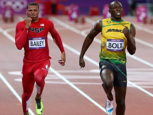 Bolt, the fastest man in the world, knows the United players after he took part in a sprint through Manchester's streets a few years ago and helped then-Manchester player Cristiano Ronaldo with his sprint training. (Getty)