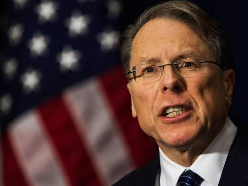 NRA chief Wayne LaPierre is advocating posting an armed guard at every school in America. (AAP)