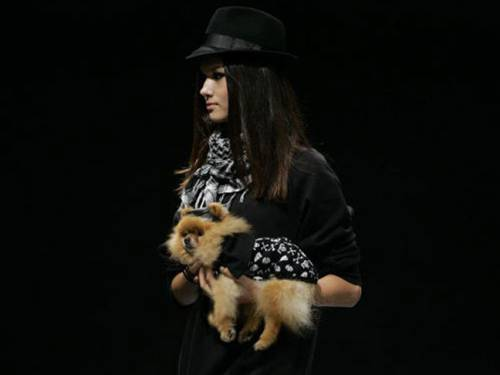 'Walking the dog' at Pet Fashion Week in Sao Paulo, Brazil, 2010. (Getty)