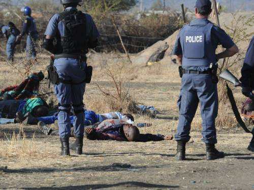 A number of workers are still missing from a mine where 34 people were shot dead in the worst police violence since apartheid (Getty).