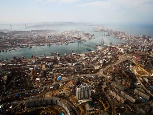 An aerial view of Vladivostok, on the Russian Pacific coast. (AP)