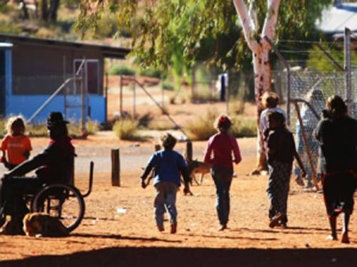The community of Mutitjulu near Uluru, NT. (AAP)
