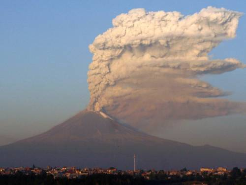 Popocatepetl volcano, near Puebla, is 120 km east from Mexico City. (Getty)