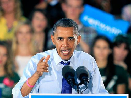 US President Barack Obama has accused his rival Mitt Romney of suffering from policy Romnesia. (AAP)