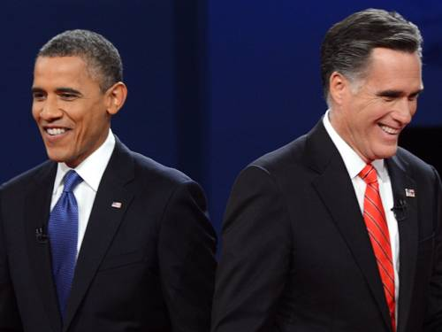 According to the polls, Barack Obama and Mitt Romney are facing a close race to the White House on 6th November. (Getty)