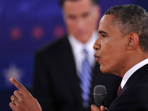 Obama vs Romney&#63; Twitter says Candy Crawford, the debate's moderator.