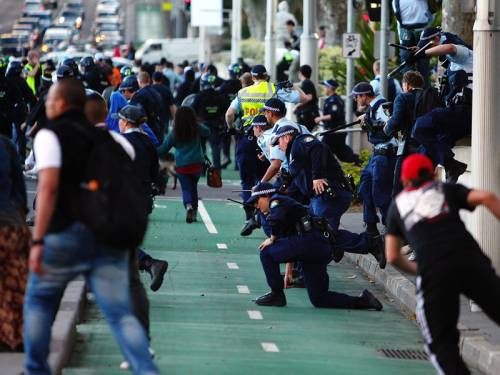 Two men have pleaded guilty for their part in a Sydney protest against an anti-Islamic film. (AAP)