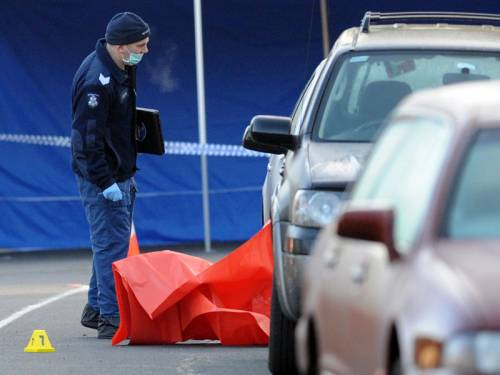 A Melbourne taxi driver has been stabbed to death and another man is dead after crashing the taxi. (AAP)
