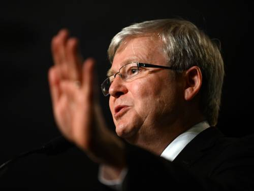 Kevin Rudd has scoffed at reports he is close to toppling Julia Gillard's federal Labor leadership. (AAP)