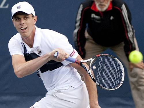 Sam Querrey (pic) won his third Los Angeles Open, crushing Ricardas Berankis in straight sets. (AAP)