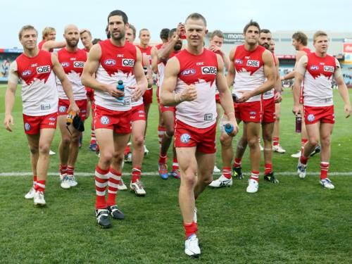The Sydney Swans will happily take a week's break in the AFL finals after a torrid schedule. (AAP)