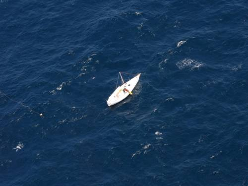 A rescued yachtsman who drifted hundreds of miles off the Sydney coast is in good spirits. (AAP)