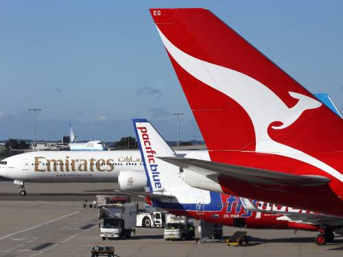 Qantas and Emirates are rumoured to announce a partnership on routes between Australia and Europe. (AAP)