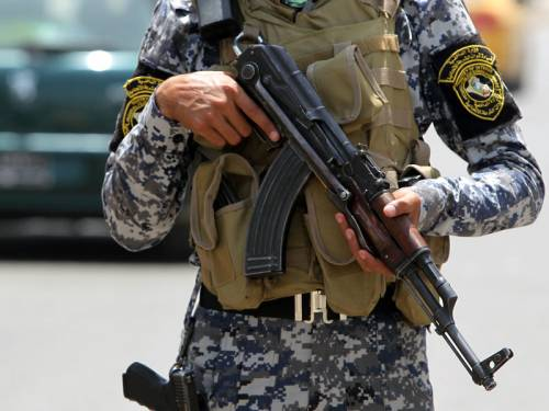 Two bombings and a drive-by shooting have killed seven Iraqi police in the country's west. (AAP)