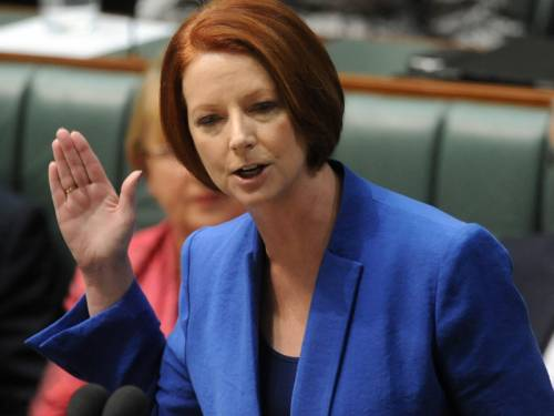 Ms Gillard's scathing attack on Mr Abbott was a speech heard around the world and applauded for its gender equality agenda. (AAP)