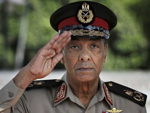 Egypt's new president ordered the powerful defence minister Field Marshal Hussein Tantawi to retire. (AAP)
