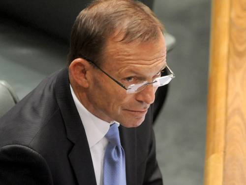 Opposition leader Tony Abbott says bringing the budget to surplus will help fund the NDIS. (AAP)