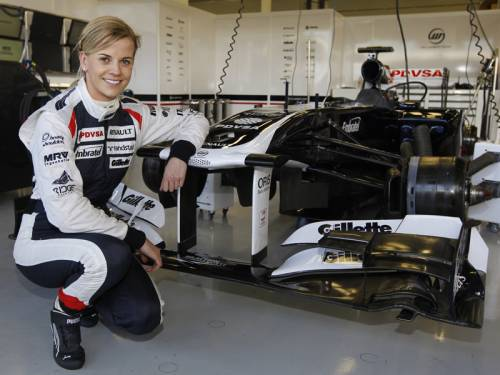 Susie Wolff has become just the fourth woman in a decade to drive a Formula One car. (AAP)