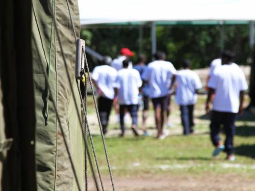 A nurse who spent three weeks at Nauru last November likened the centre to a concentration camp and says she witnessed four hangings. (File: AAP)