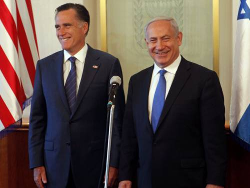 Republican presidential candidate Mitt Romney has discussed Iran's nuclear ambitions with Israel. (AAP)