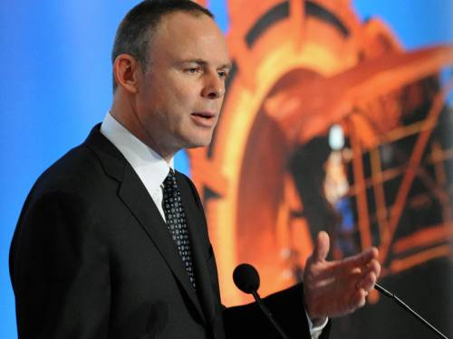 BHP boss Marius Kloppers has offloaded another $1.8 million worth of shares to help fund a tax bill. (AAP)