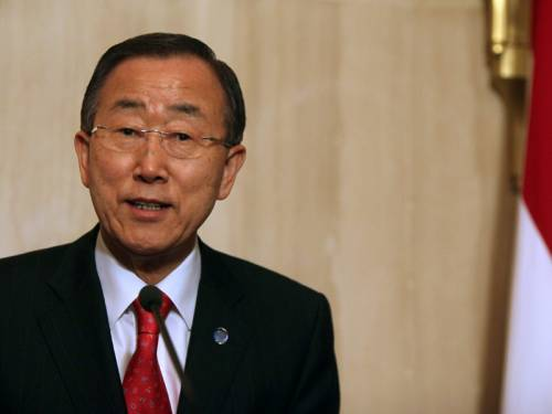 The tense security in the Middle East has dashed hopes of a nuclear conference, the UN leader says. (AAP)