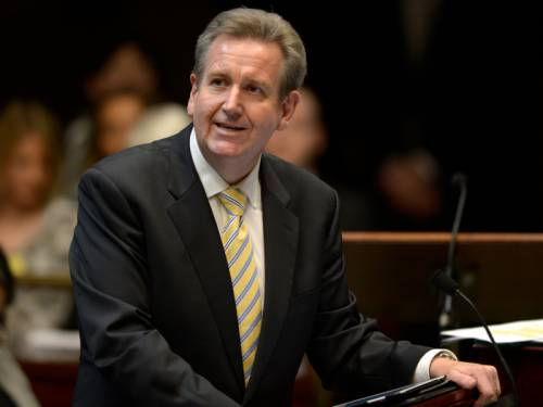 NSW Premier Barry O'Farrell has delivered a historic apology to victims of past forced adoptions. (AAP)