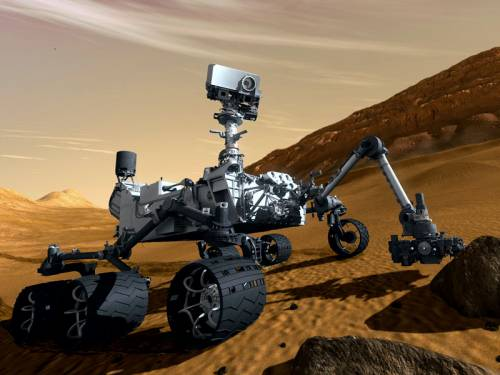 An artist concept image of the Mars rover Curiosity. (AAP)
