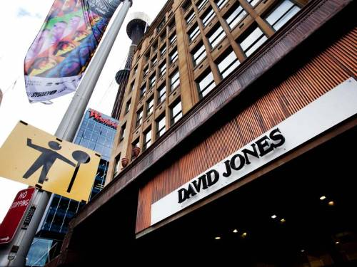 David Jones is expected to report a profit slump of as much as 40 per cent. (AAP)