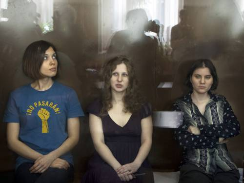 Russia's President has commended the two-year jail sentence handed to feminist punk band Pussy Riot. (AAP)