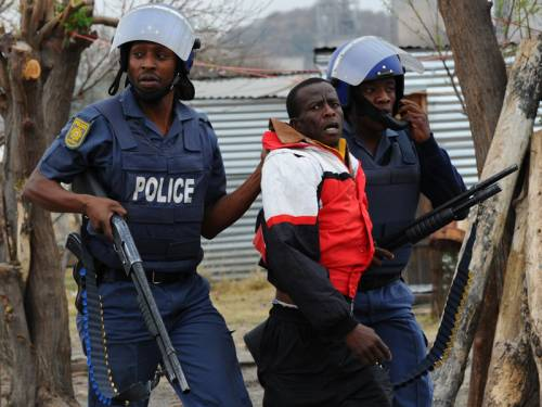 South Africa's president defended government action taken over a deadly protest by miners. (AAP)