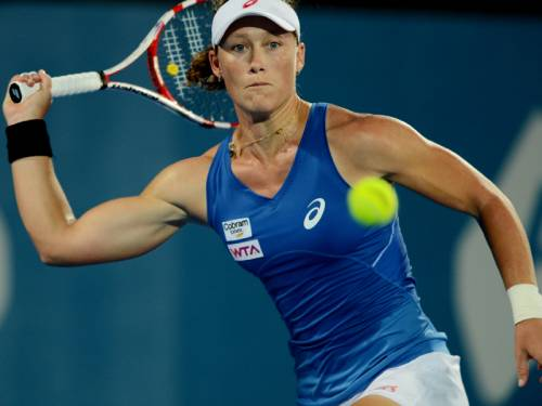 Samantha Stosur has suffered a first-round loss at Sydney International. (AAP)