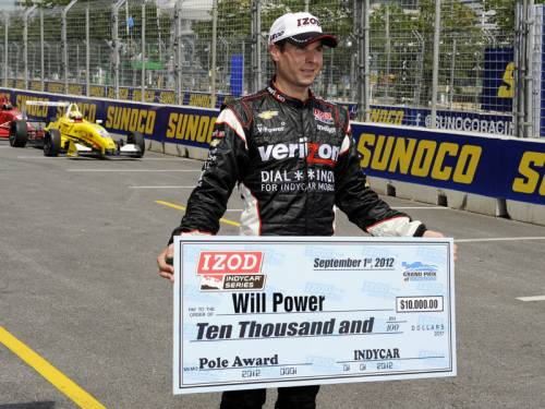 Aussie Will Power has claimed pole position for the penultimate race of the season in Baltimore. (AAP)