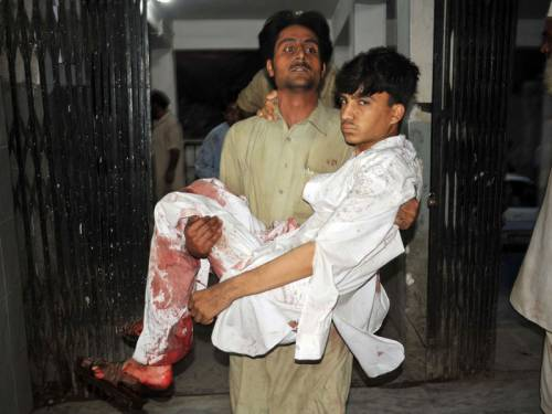 A bomb has exploded in Pakistan's northwestern city of Peshawar, killing at least two people. (AAP)