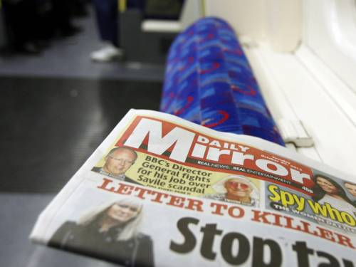Shares in the UK publisher of the Daily Mirror have plunged over fresh phone hacking claims. (AAP)