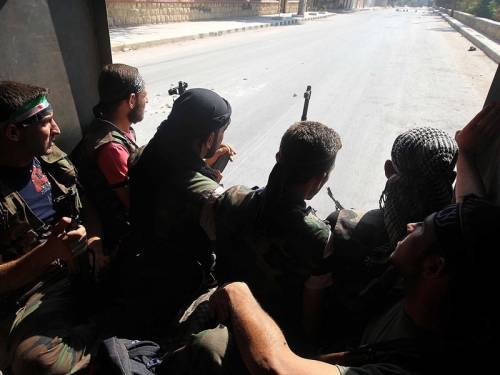 According to activists, rebels who launched an operation to take over Syria's largest city a week ago are estimated to control between a third and half of Aleppo's neighbourhoods. (AAP)