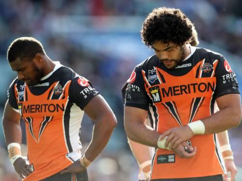 The Wests Tigers are facing finals oblivion after Sunday's 44-20 loss to Sydney Roosters. (AAP)